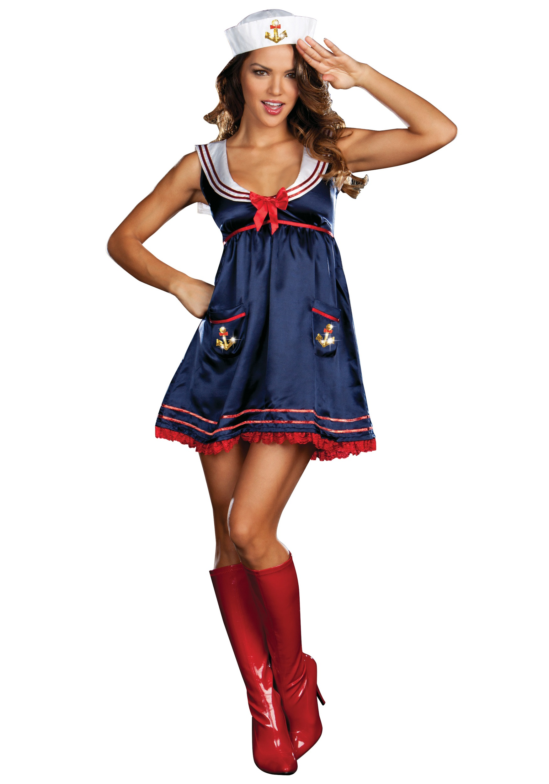 Sexy Blue Sailor Girl Costume-2556