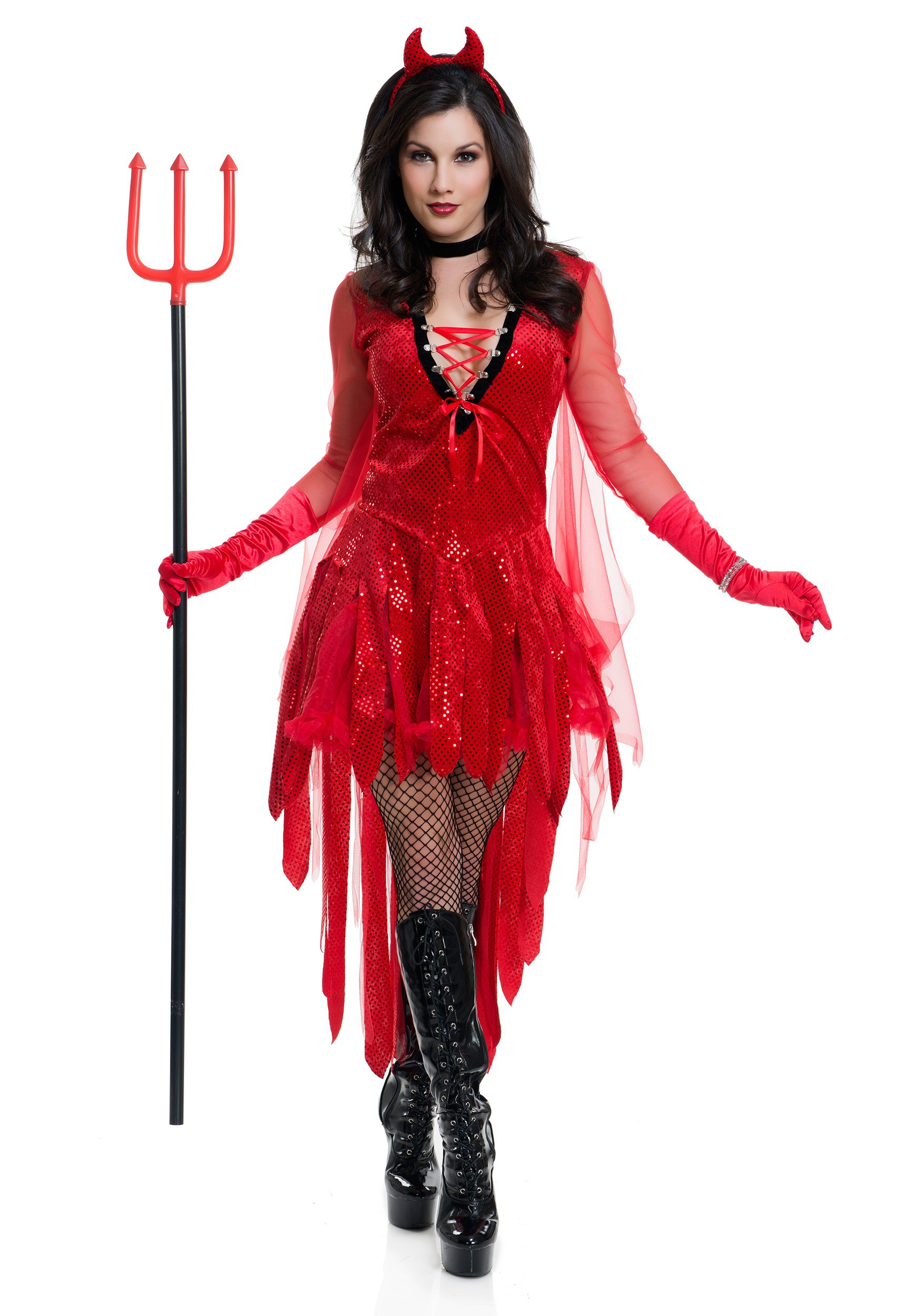 Womens Sizzling Devil Costume-6654