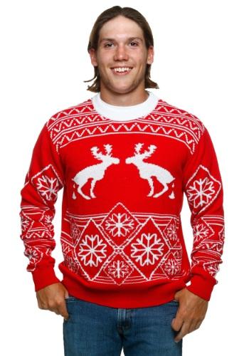 Pooping Moose Ugly Christmas Sweater