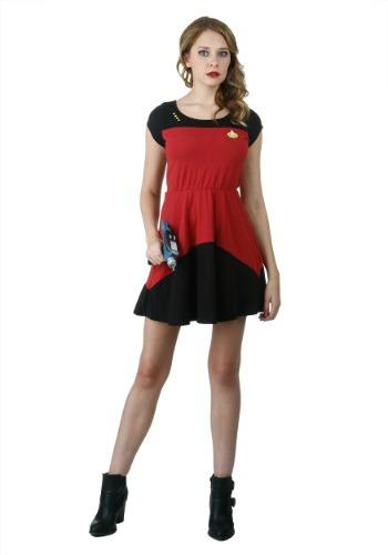 Star Trek Starfleet Red Skater Dress