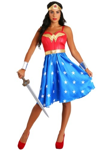 Adult Deluxe Long Dress Wonder Woman Costume-update1