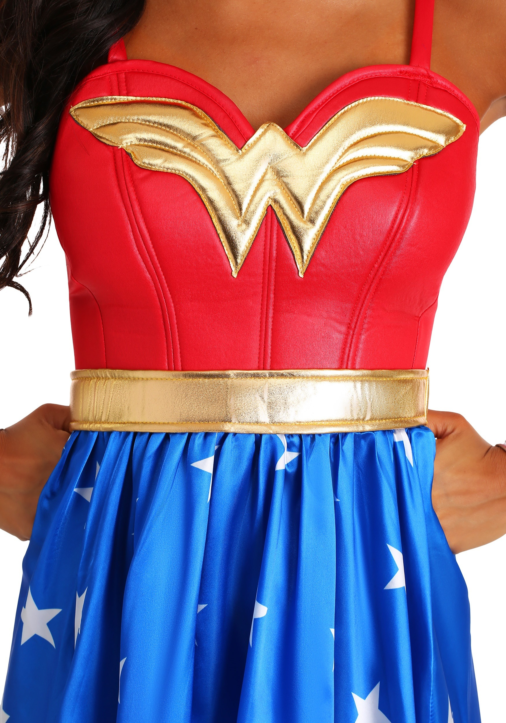 Adult Deluxe Long Dress Wonder Woman Costume-5999