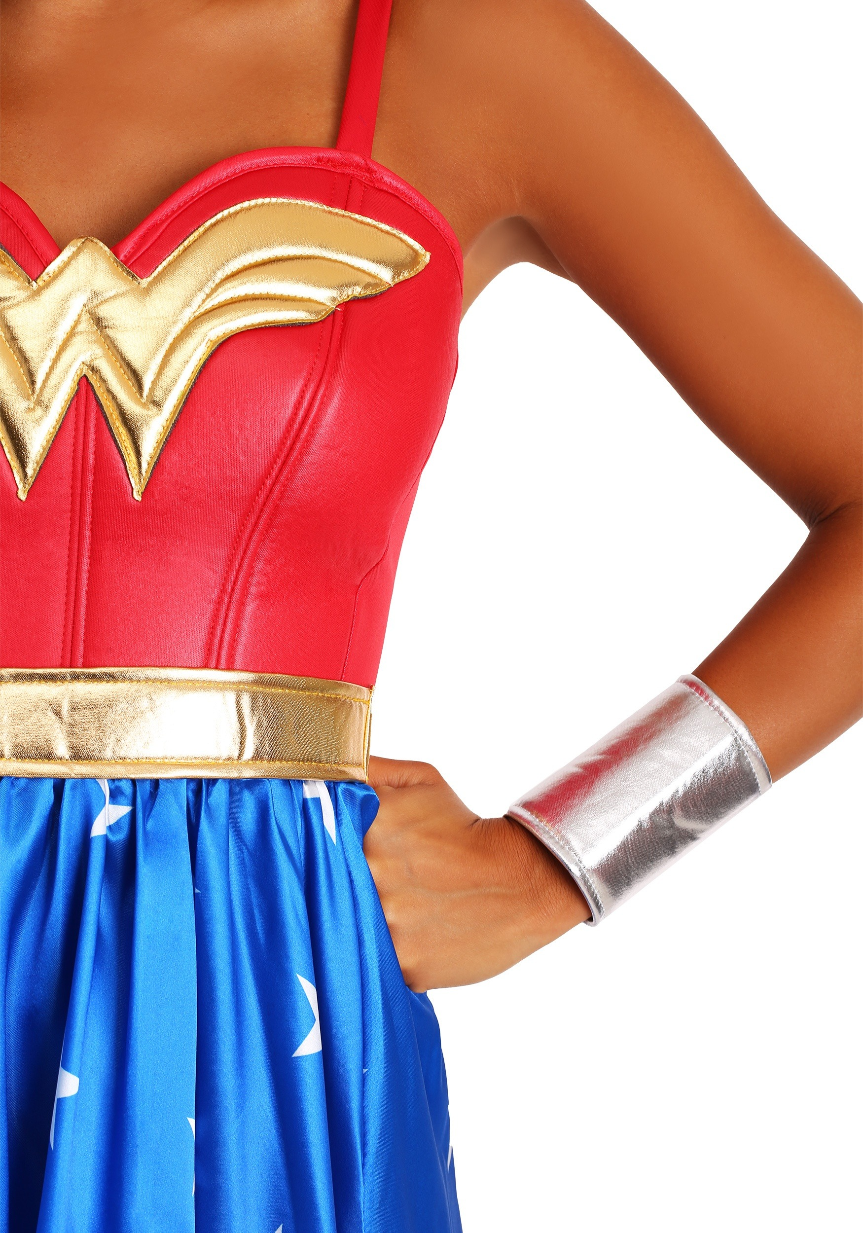 Adult Deluxe Long Dress Wonder Woman Costume-9907