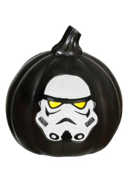 Star Wars Stormtrooper Light-Up Black Pumpkin