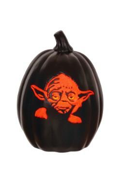 """Star Wars 12"""" Yoda Face Light-Up Pumpkin"""