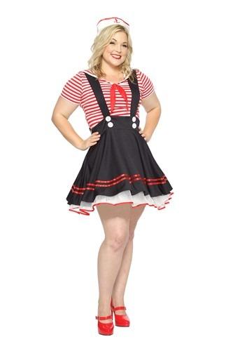 Women's Plus Size Retro Sailor Costume