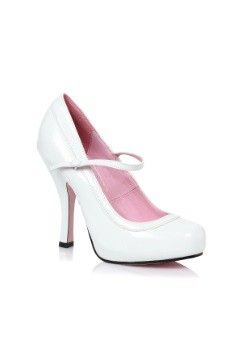Women's White Baby Doll Heels
