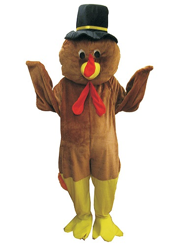 Mascot Thanksgiving Turkey Costume