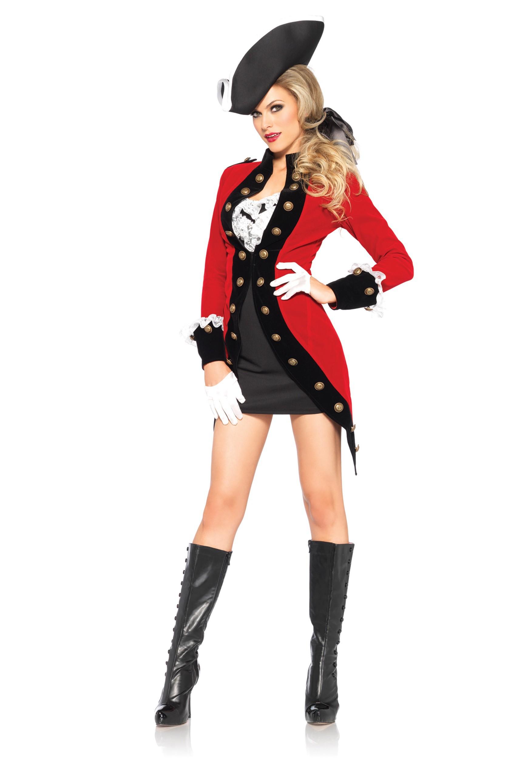 Women\'s Rebel Red Coat Costume