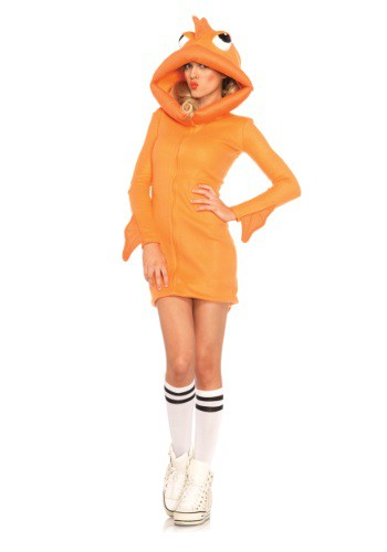 Womens Cozy Goldfish Costume