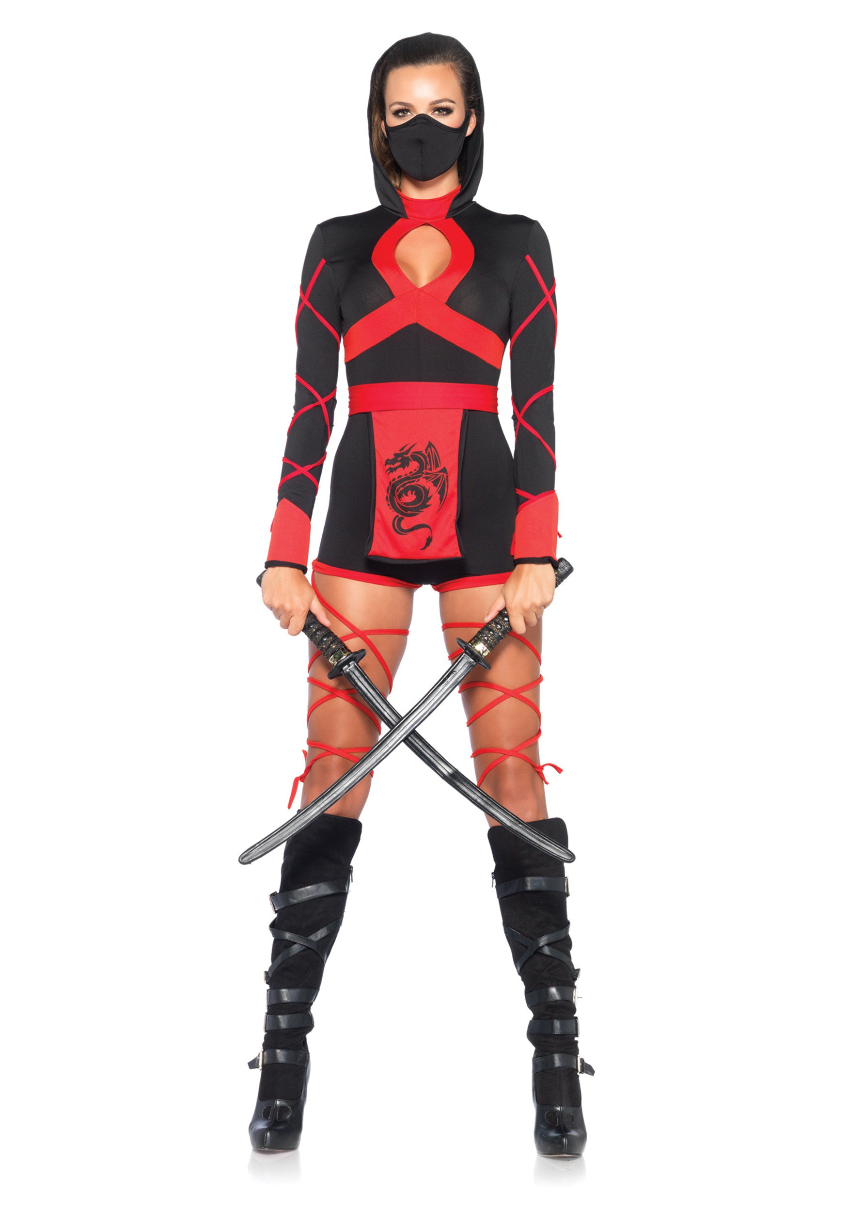 sc 1 st  Halloween Costumes UK & Womens Dragon Ninja Costume