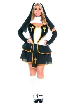 Women's Plus Size Flirty Nun Costume