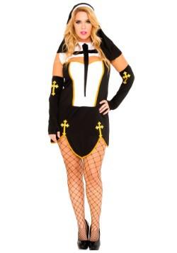 Women's Plus Size Bad Habit Nun Costume