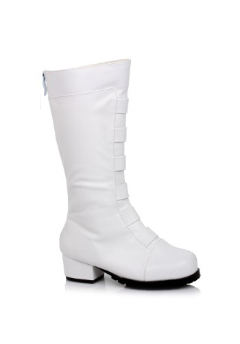 Kid's White Deluxe Superhero Boots