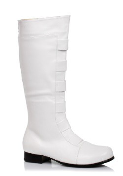 Adult White Superhero Boots