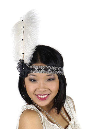 Black and Ivory Deluxe Flapper Band