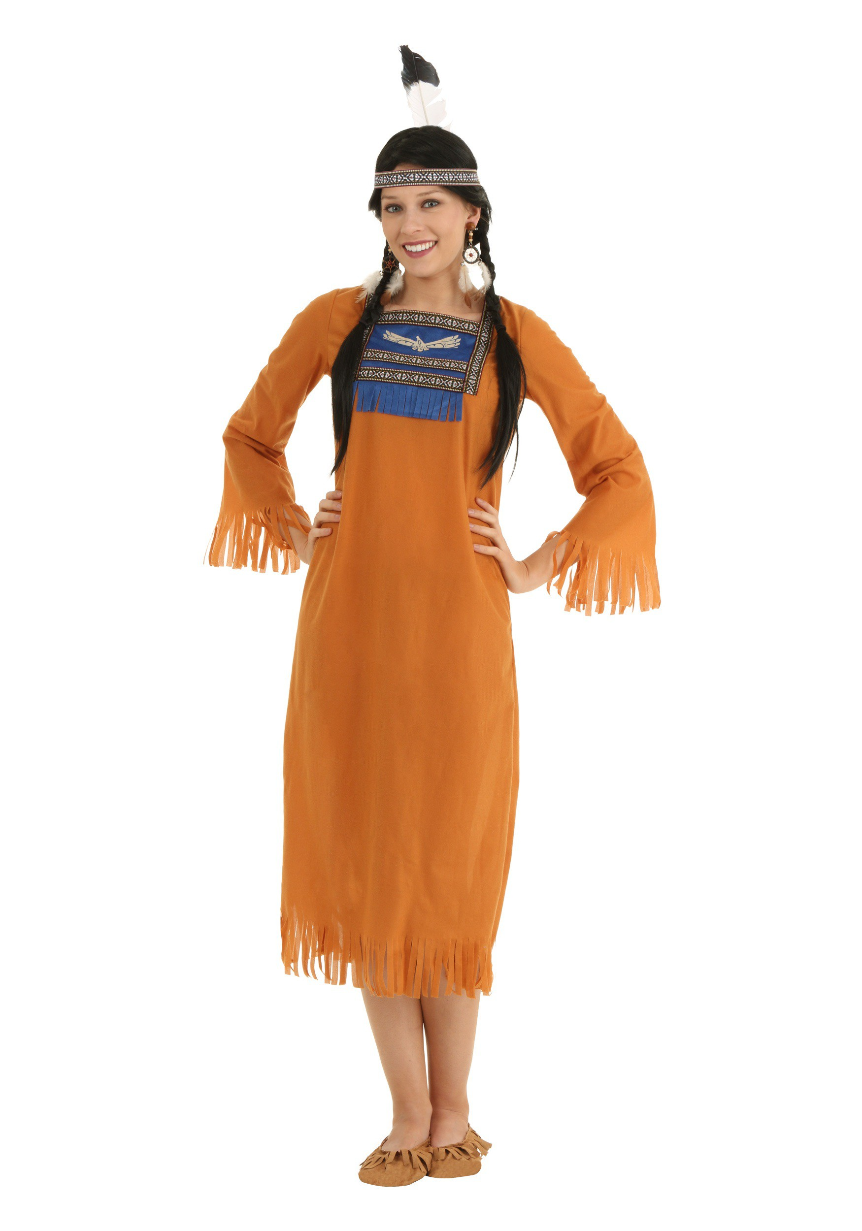 Plus Size Native American Dress Costume-4282