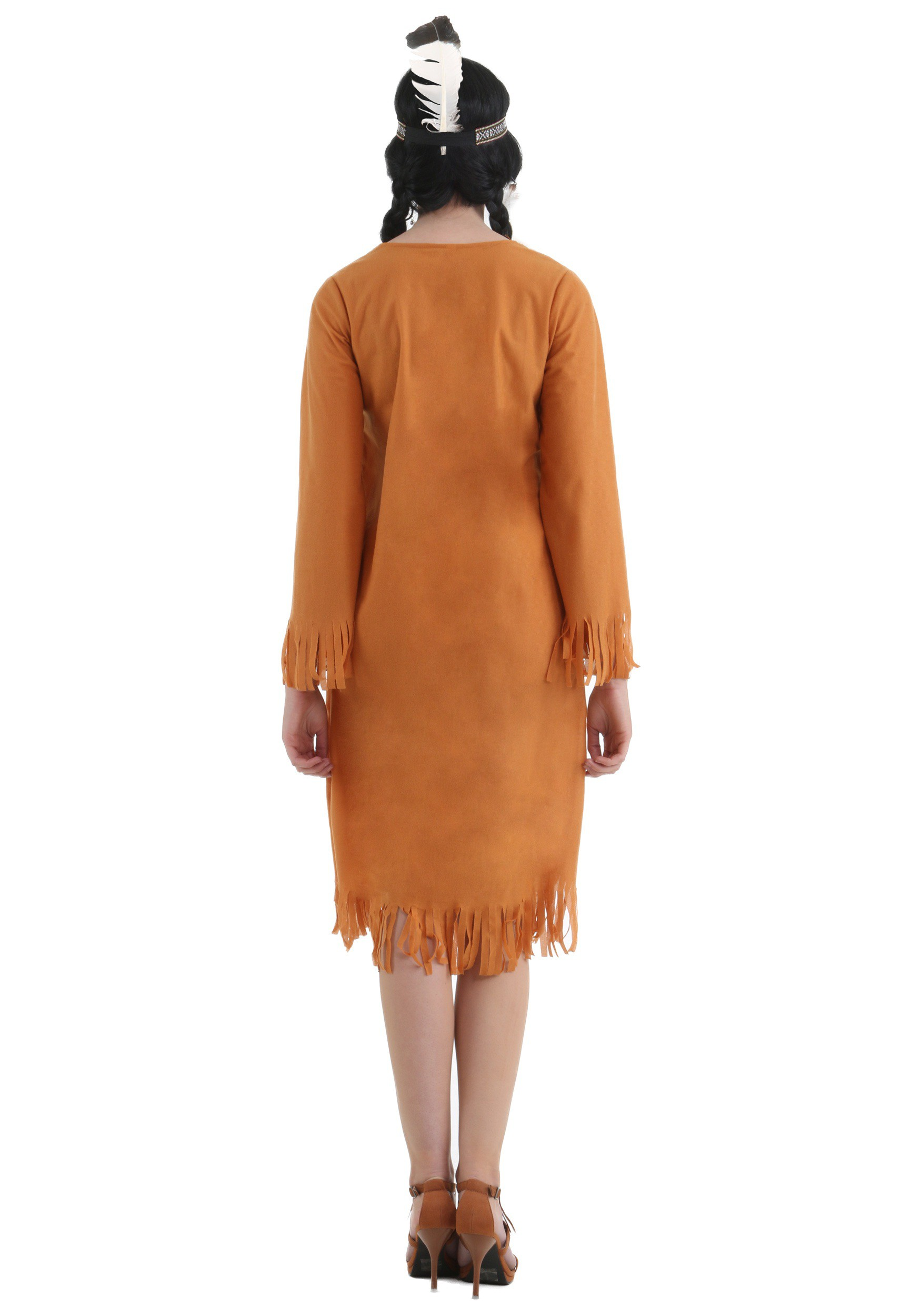Plus Size Native American Dress Costume-4954
