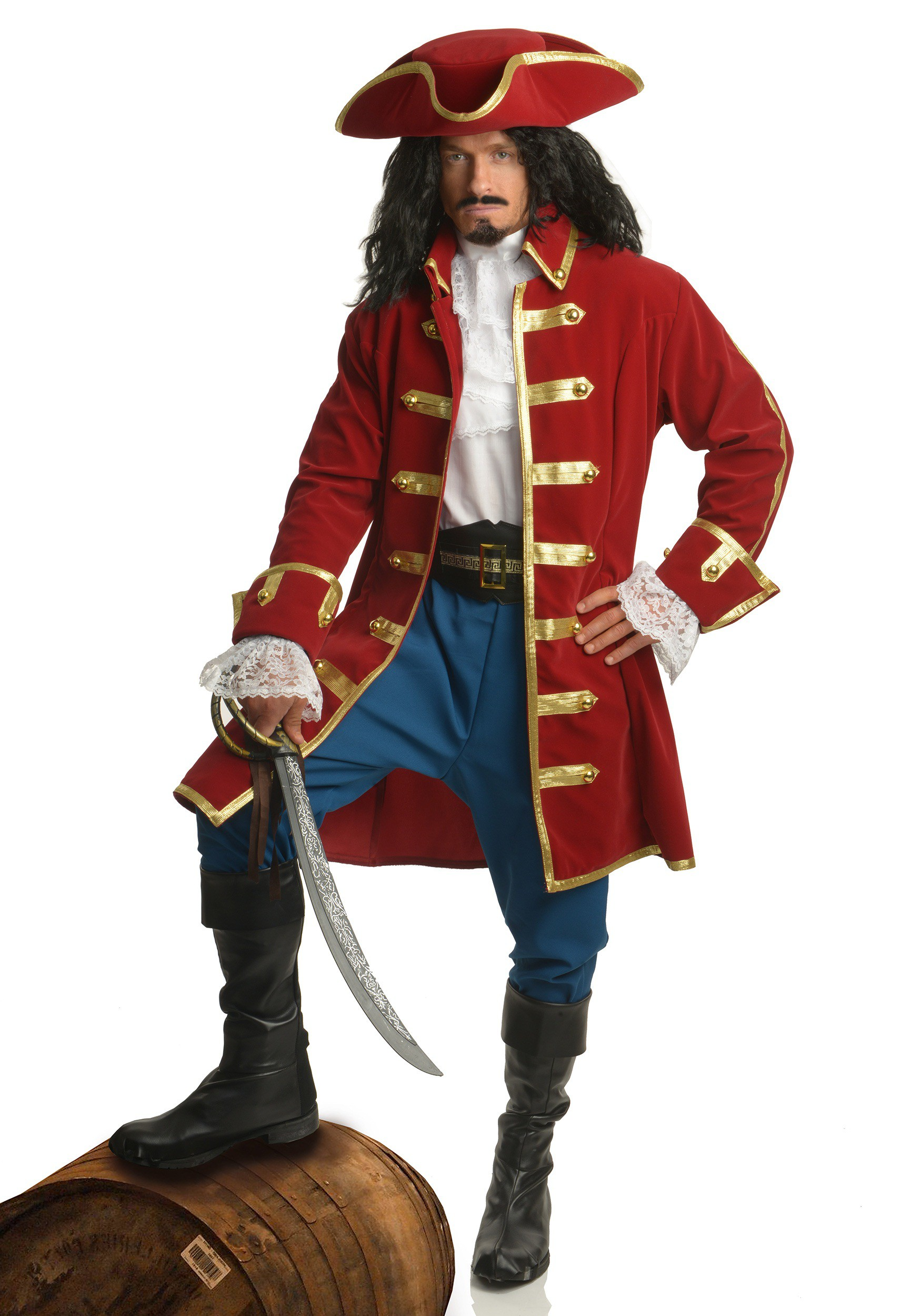Pirate Boots Adult Mens Captain Morgan Halloween Costume Shoes