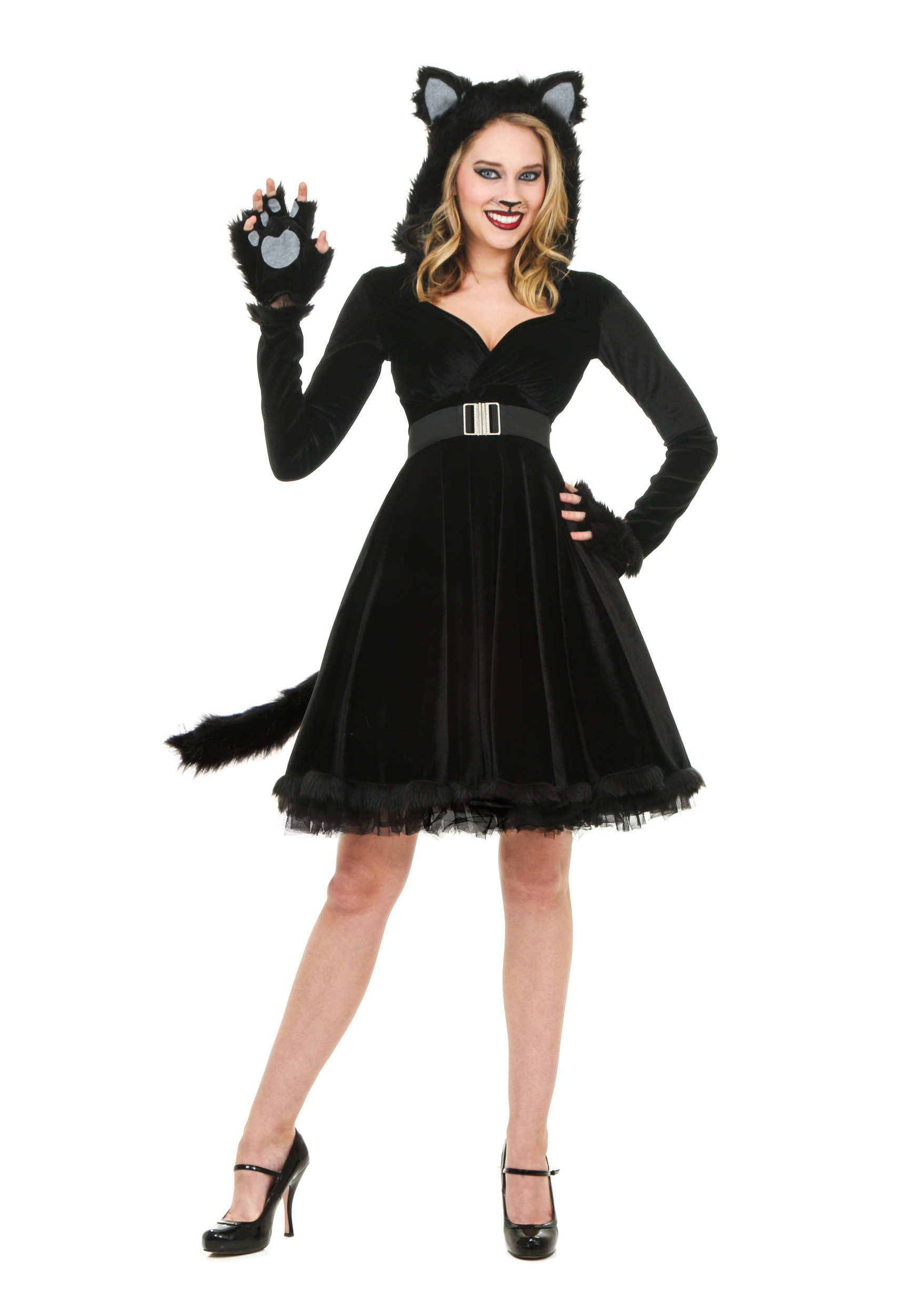 Womens Black Cat Costume-2356