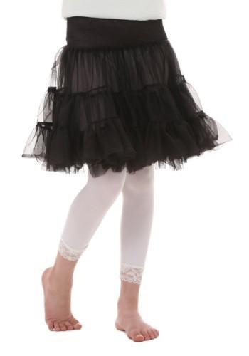Child Black Knee Length Crinoline