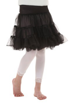 Child Black Knee Length Crinoline