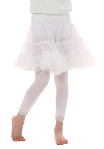 Child White Knee Length Crinoline