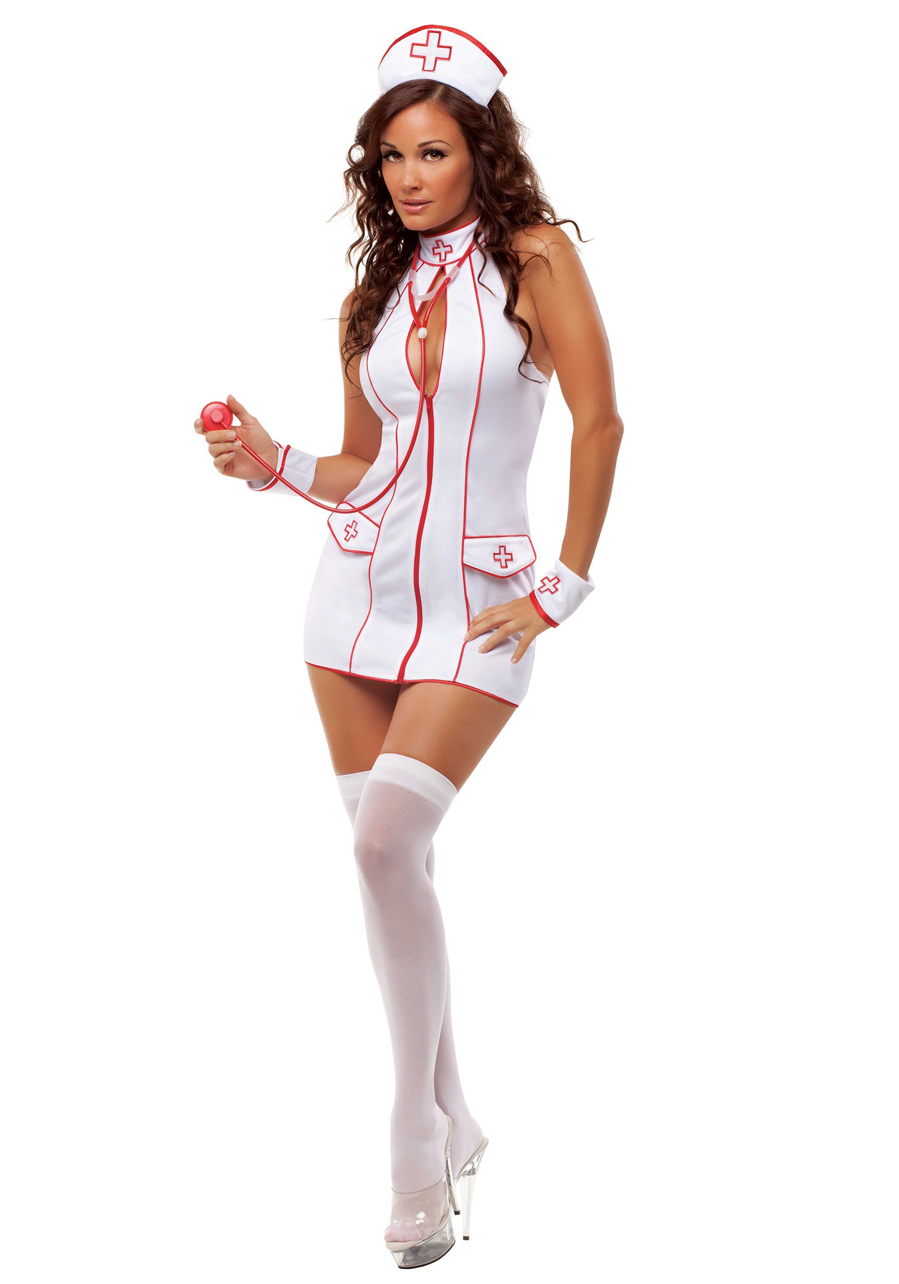 PVC Sexy Nurse Costume Set - Just $7