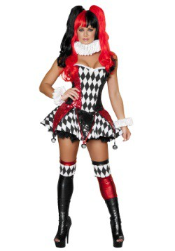 Women's 3pc Court Jester Cutie Costume