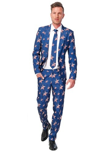 Men's Opposuits Basic Stars and Stripes Suit