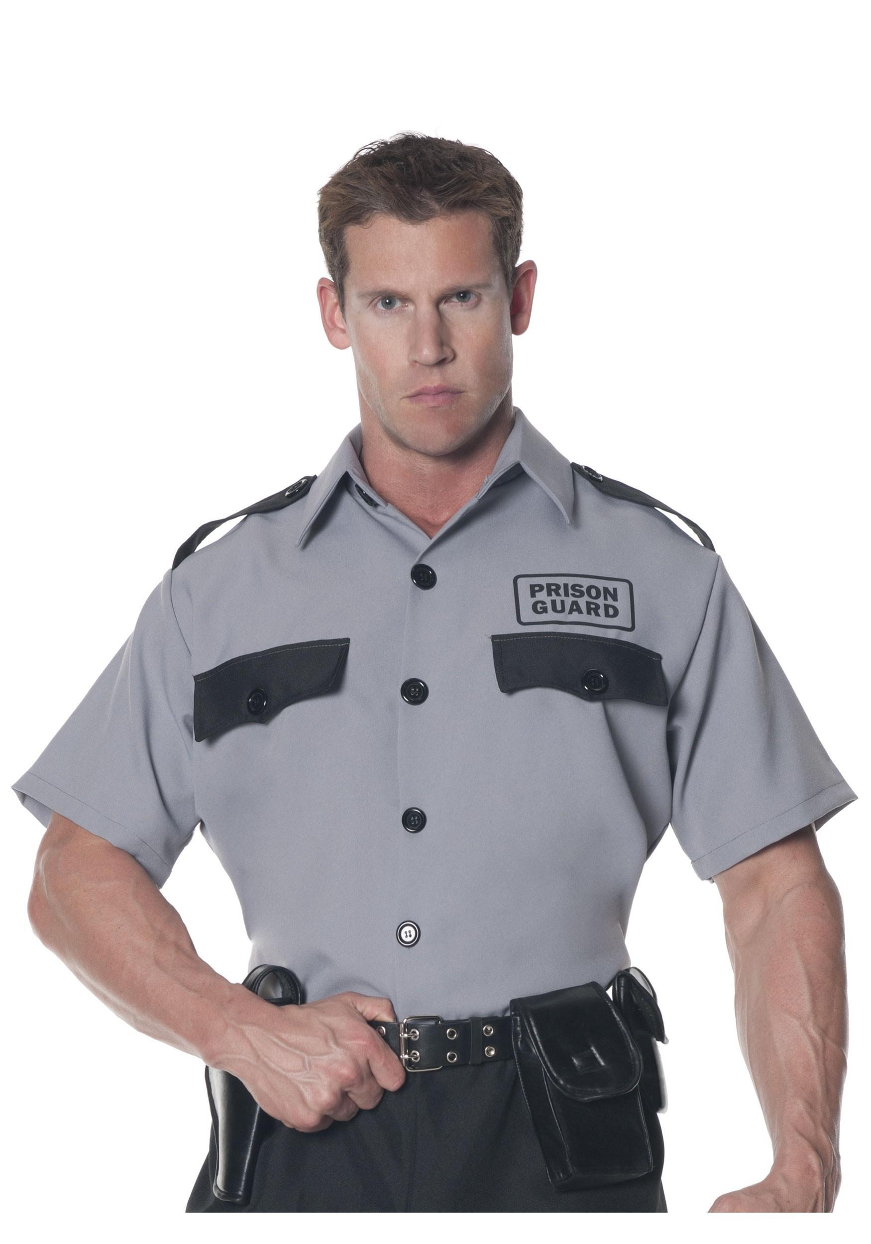 Men S Plus Size Prison Guard Shirt