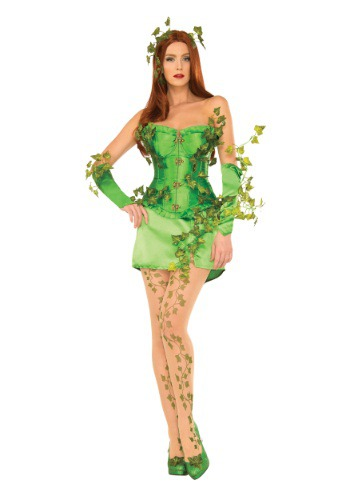 Women's Deluxe Poison Ivy Corset Costume