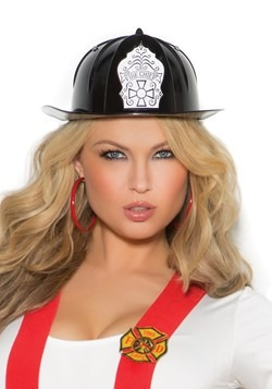 Black Fire Chief Hat