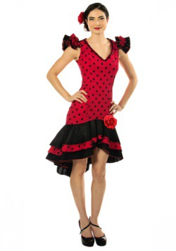 Women's Plus Size Spanish Dancer Costume
