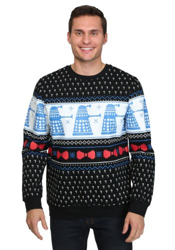 Doctor Who Dalek Question Printed Fleece Christmas Sweater
