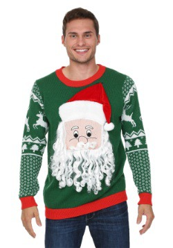 3D Santa Face Sweater