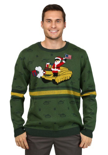 Men's Santa on Tank Christmas Sweater