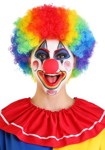 Jumbo Rainbow Clown Wig