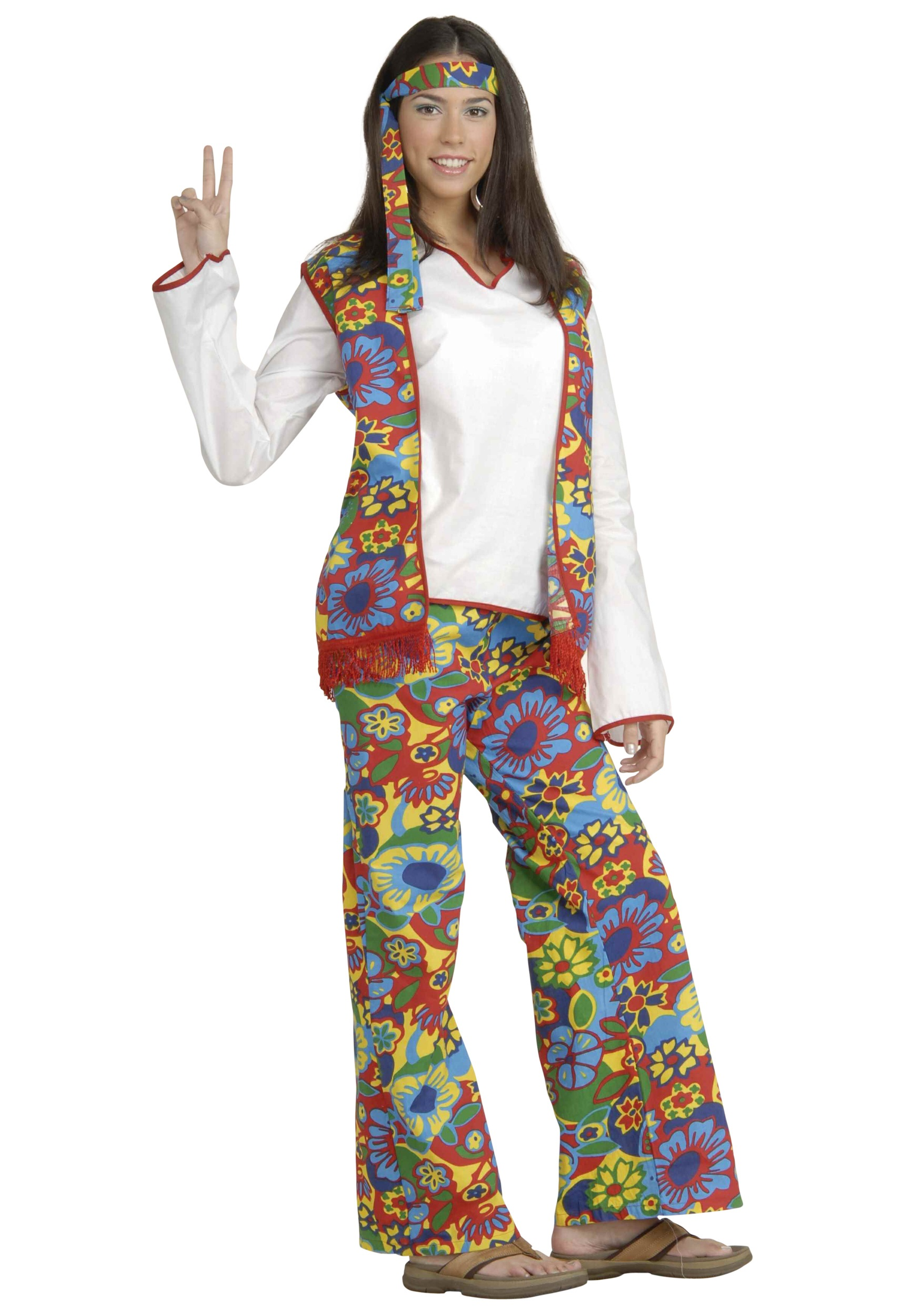 Hippie Chick Costume  sc 1 st  Halloween Costumes UK & 70u0027s Costumes - Mens and Womens 70s Costumes