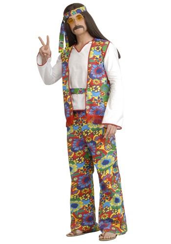 Plus Size Men's Hippie Costume