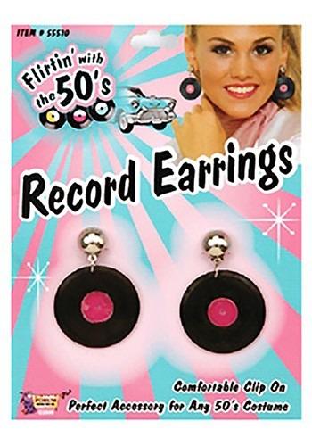 Record Earrings
