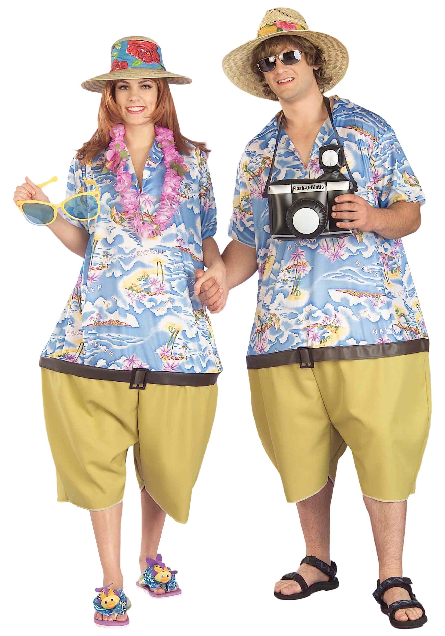 Adult Tropical Tourist Fancy Dress Costume