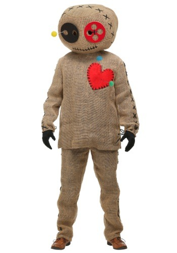 Adult Burlap Voodoo Doll Plus Size Costume