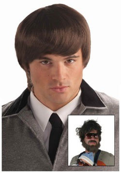60s Mod Brown Mens Wig
