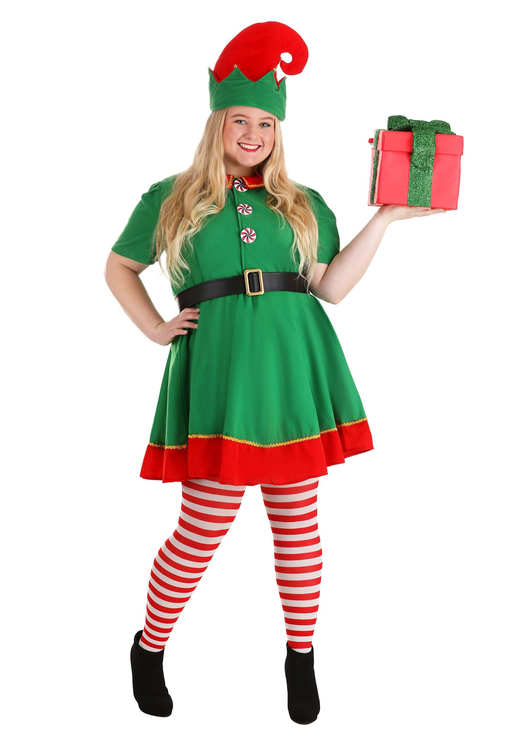 Womens Holiday Elf Plus Size Costume  sc 1 st  Halloween Costumes UK & Elf Costumes - Adult Childu0027s Sexy Elf Christmas Costume