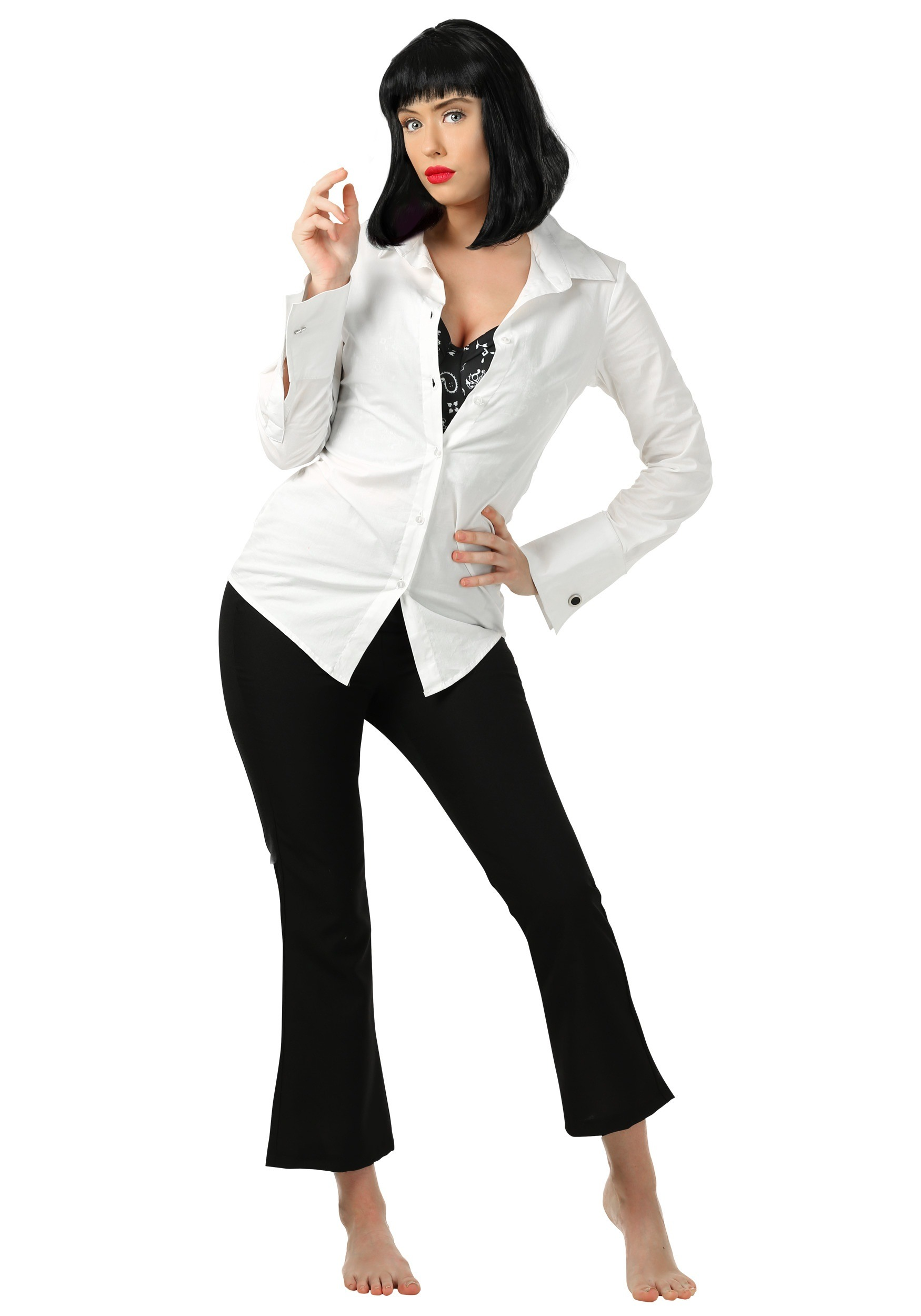Mia Wallace Pulp Fiction Fancy Dress Costume for Women