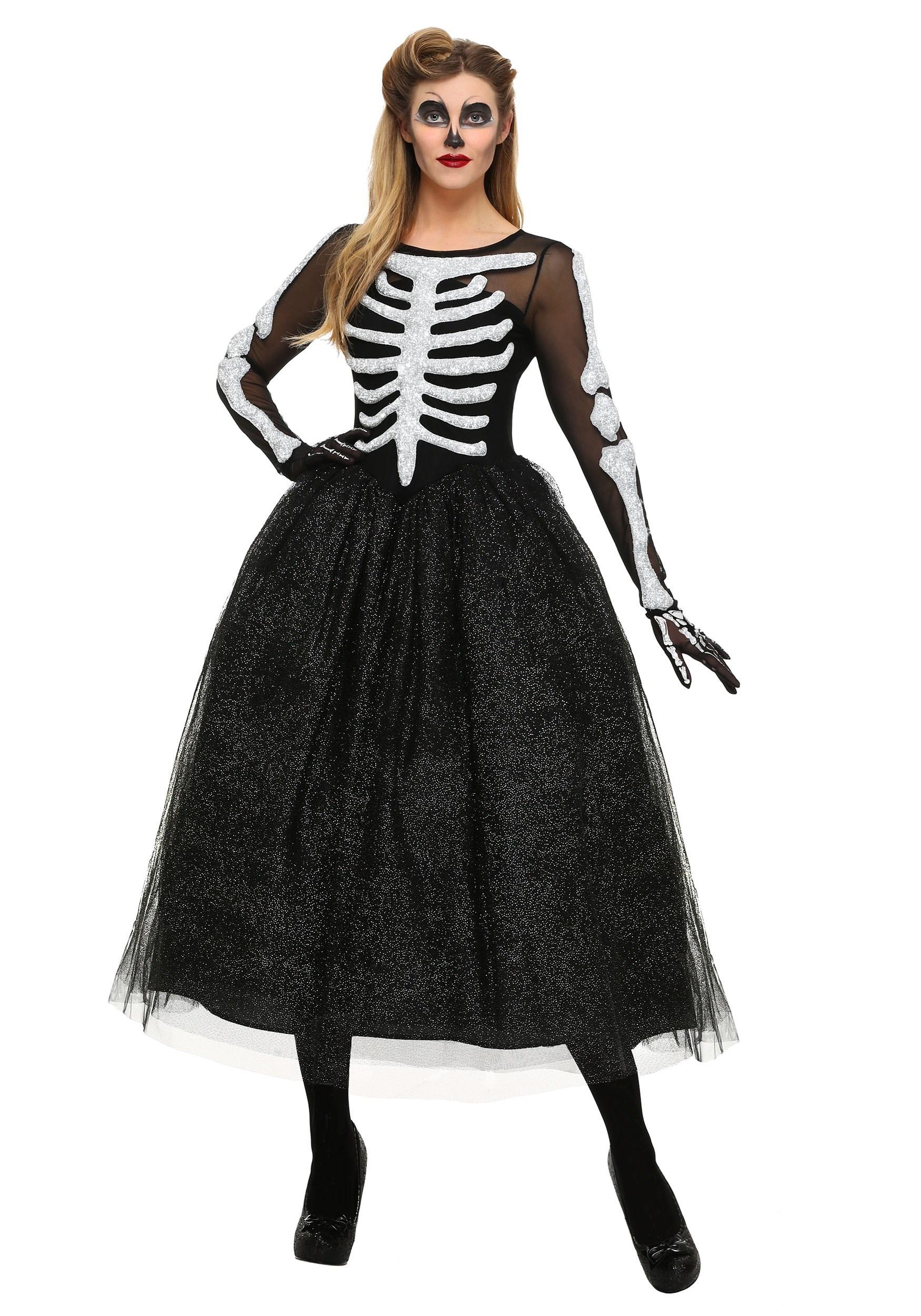 Beauty Plus Video: Women's Skeleton Beauty Plus Size Costume