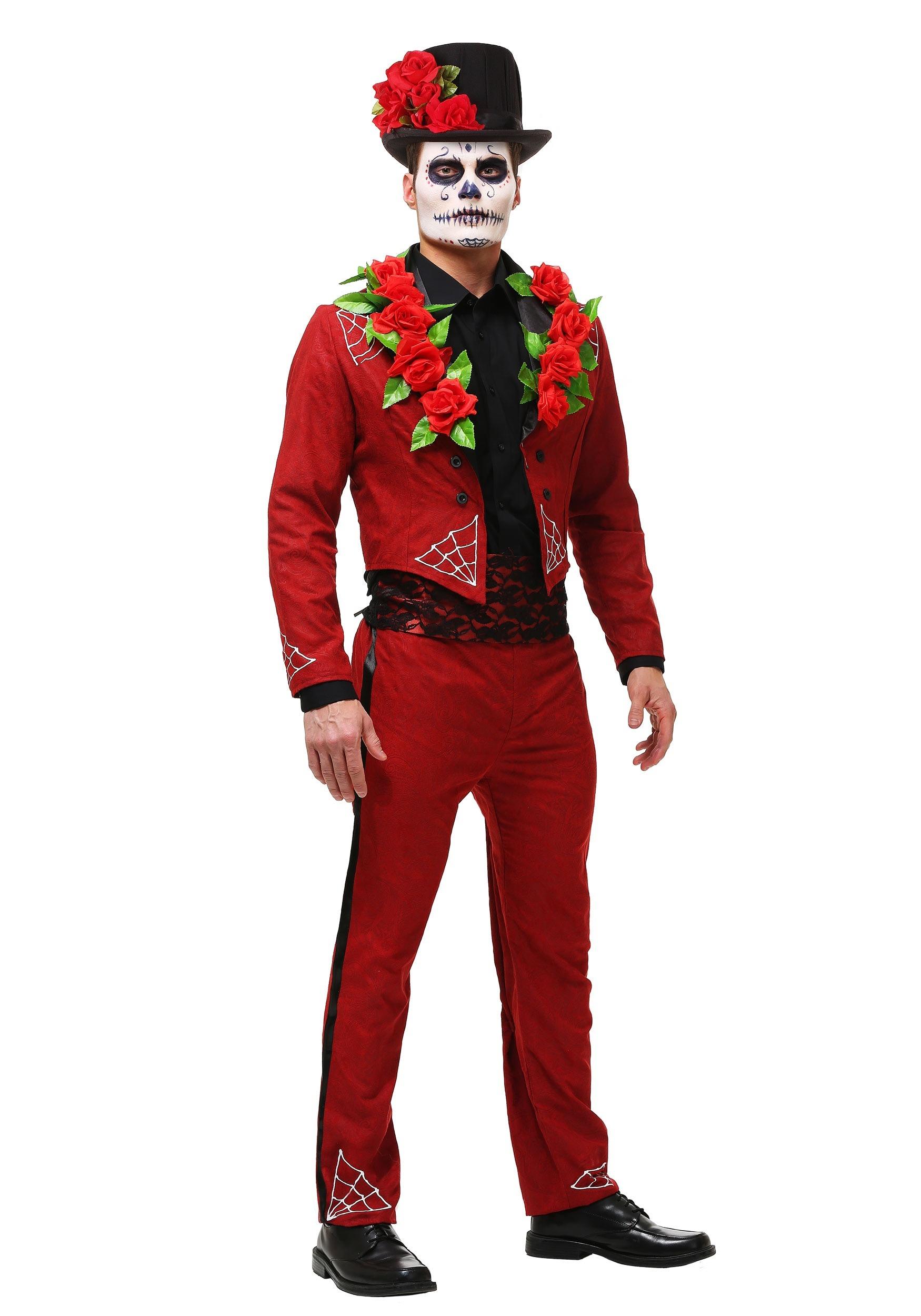 f18fa85b9ff8 Men s Plus Size Day of the Dead Costume