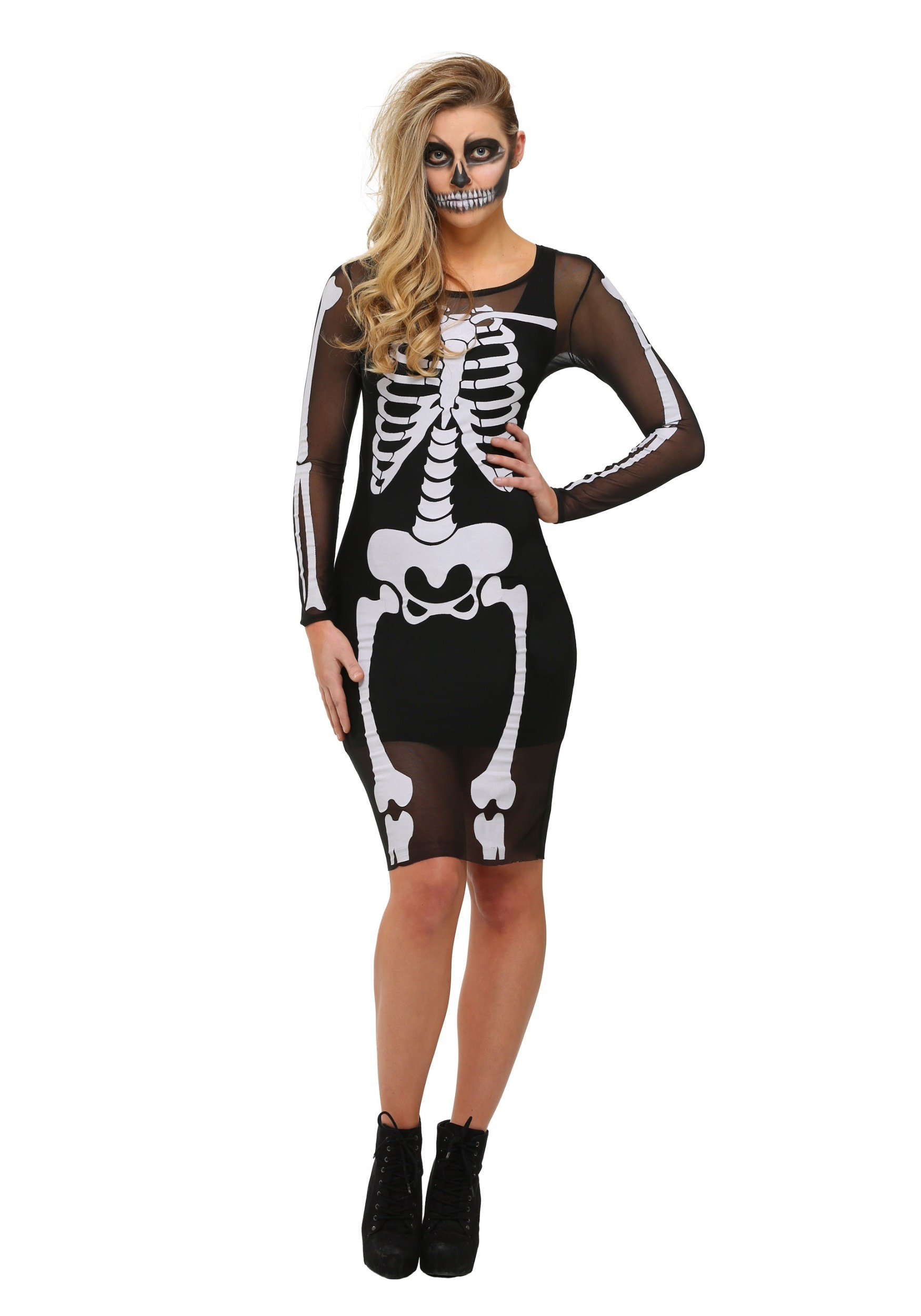 Skeleton Costumes - Adult, Girls Skeleton Costume