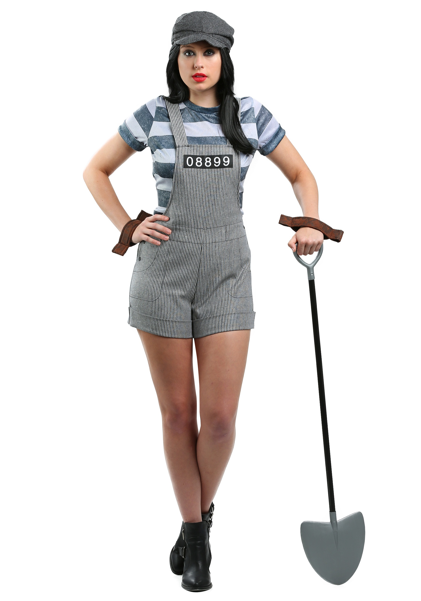Prisoner costumes sexy prisoner halloween costumes womens chain gang prisoner costume solutioingenieria Image collections